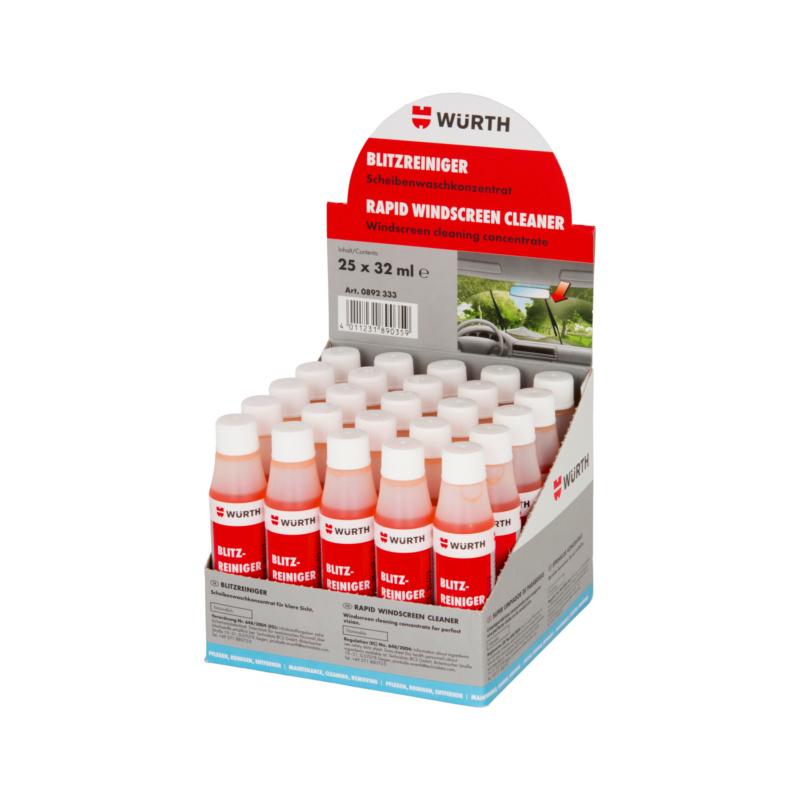 挡风玻璃清洁剂 展示牌中的快速清洁剂 - 雨刷精-32ML