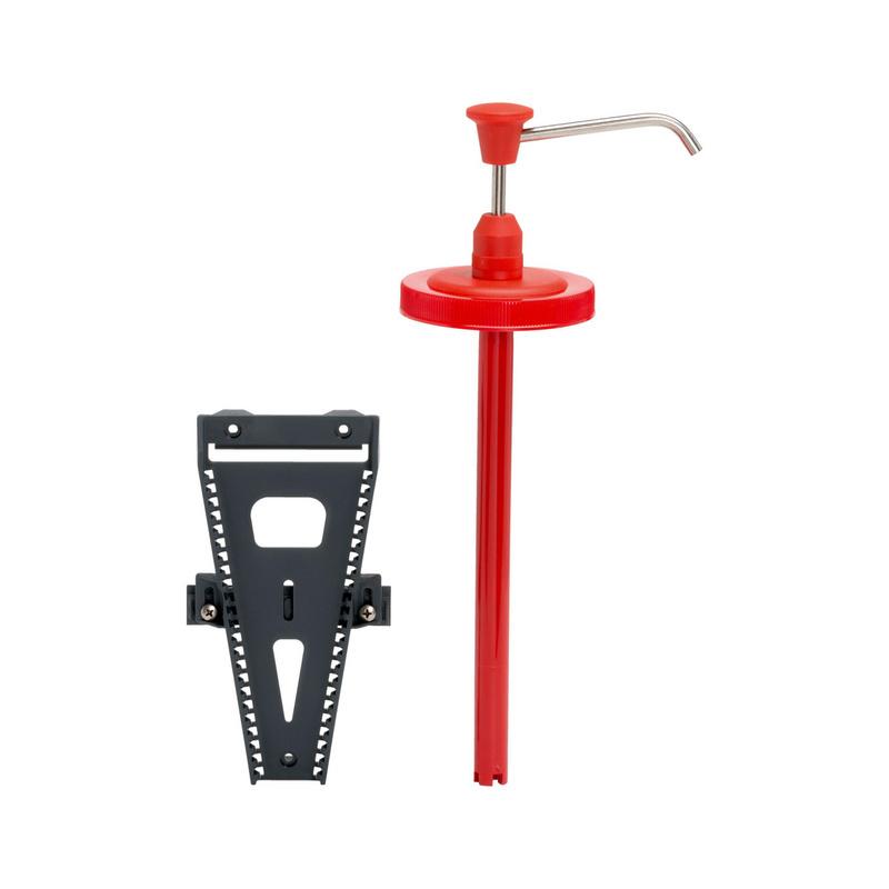 适用于洗手液的分配系统,带壁装式托架 - 清洁器手柄和支架套装-HNDCLNRDSP-WALLHOLD