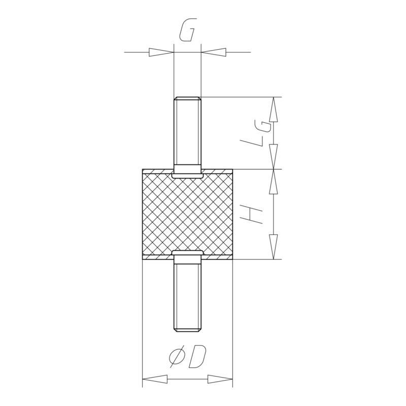 橡胶-金属缓冲块,A 型 - 2