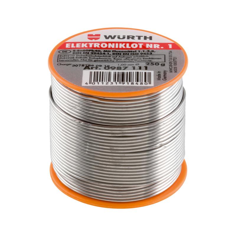 1 号电子元器件用钎焊条 - 焊锡丝-1号-ZN60/PB40-250G-D1