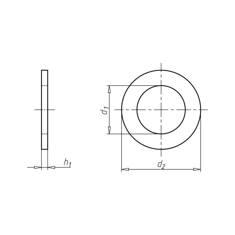 ISO 7092 不锈钢 A2 200 高强度 - 2