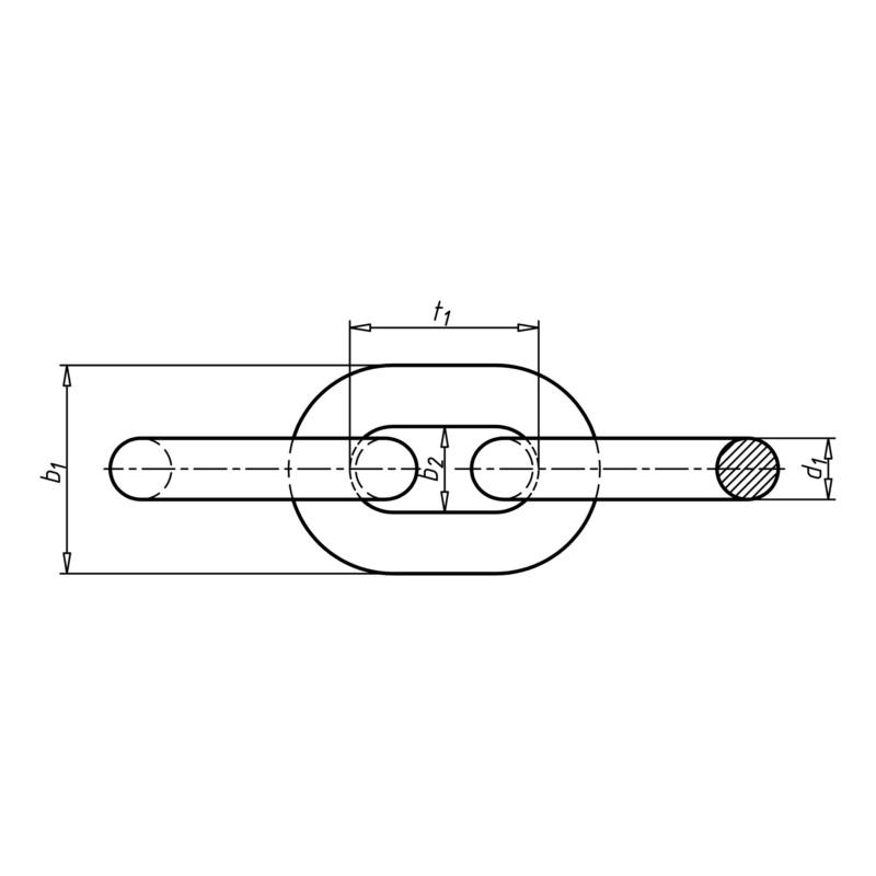 DIN 5685 不锈钢 A2 短链带 - 2