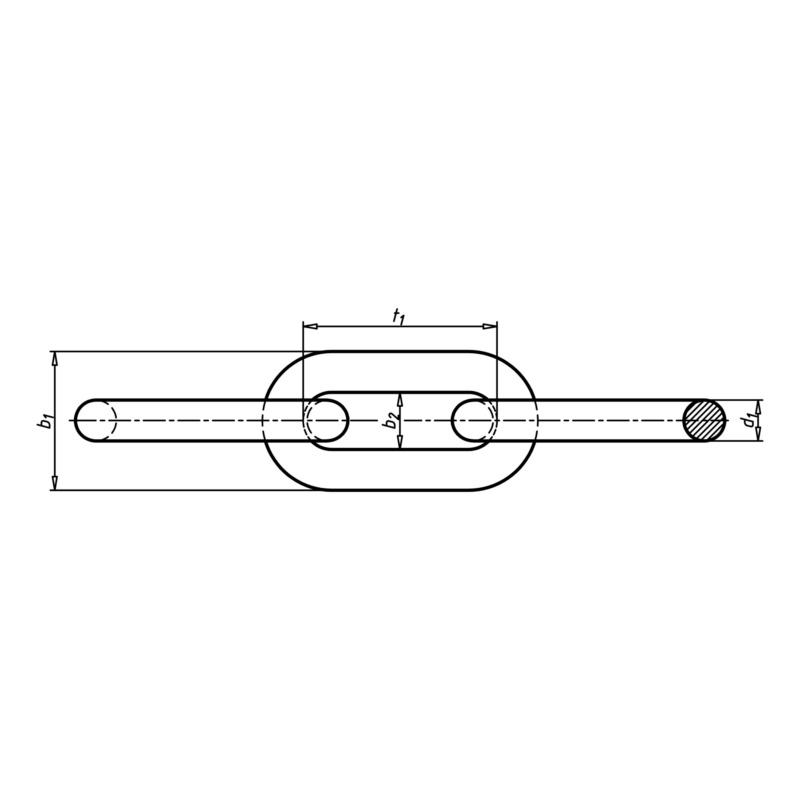 DIN 5685 不锈钢 A4 长链带 - 2