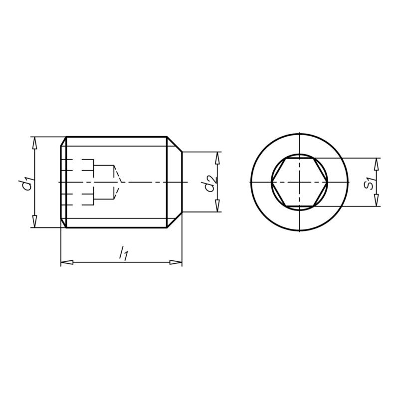 六角凹頭定位螺釘,帶截錐頭 - 2