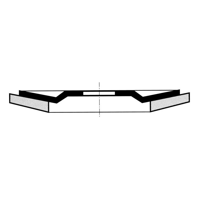 花形百叶抛光轮,用于不锈钢 - 多层砂纸打磨片-BR22,23-G40-D125