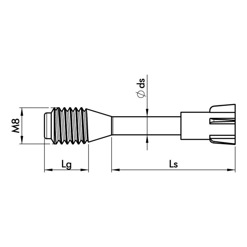 螺栓 M8,适用于 BFB 8 混凝土 - 2