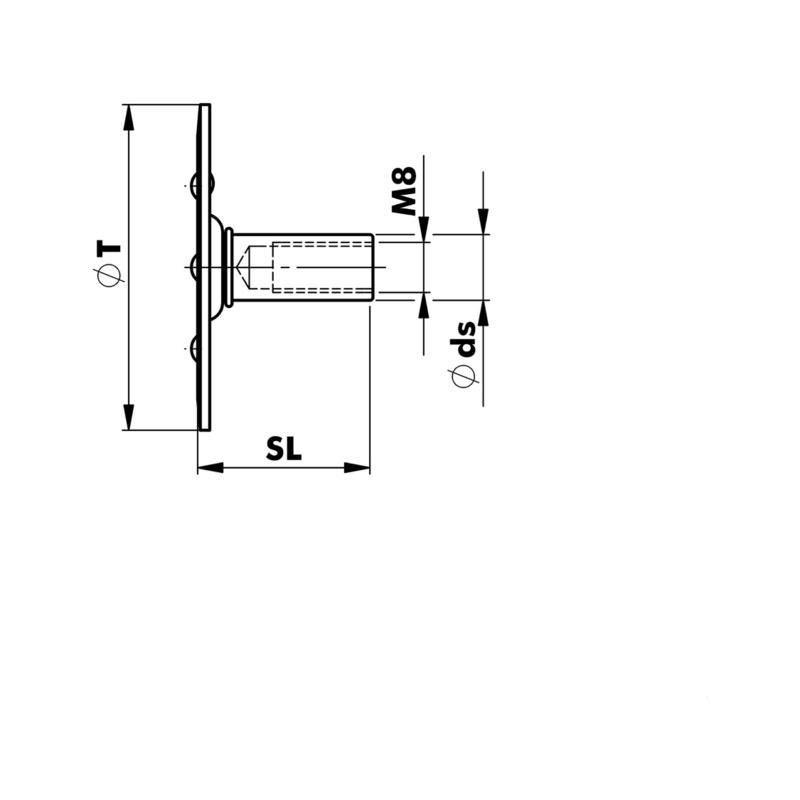格栅固定件 W-GBR M8 - 2