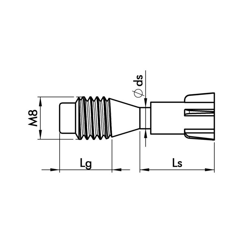 螺栓 M8,适用于 BFS 8 钢 - 2