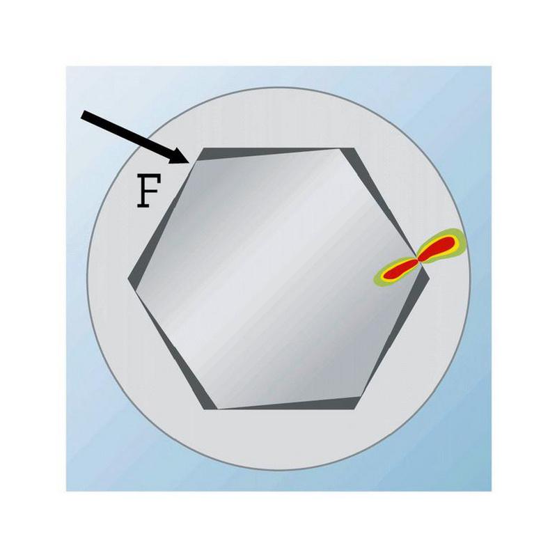 六角批头,C 6.3 (1/4) Powerdriv - 1/4英寸内六角改锥头-WS4-L25MM