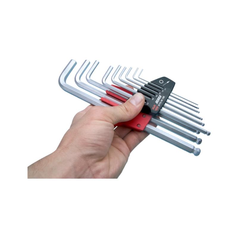 内六角扳手套件,六角套筒 - 球头内六角扳手-(1,5-10)-9PCS