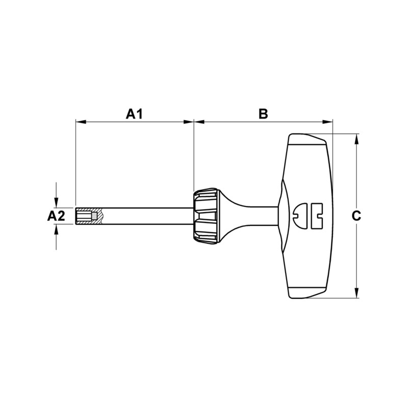 T 型手柄棘轮螺丝刀 - 2