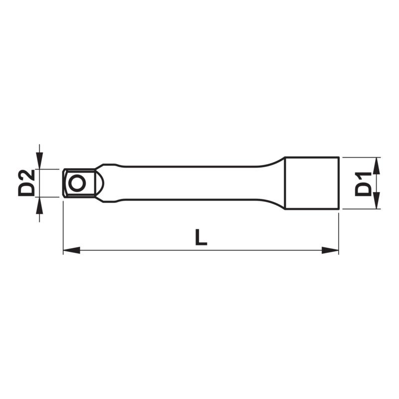 """1/2 英寸延长杆 - 1/2""""延长杆-L250MM"""