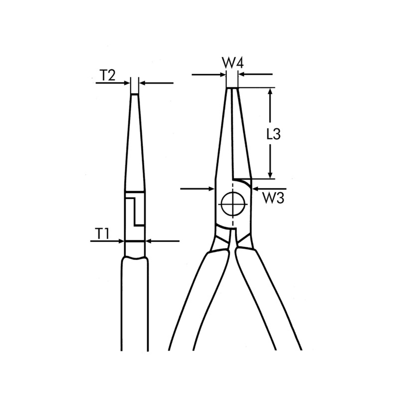 尖嘴钳 DIN ISO 5745 - 尖嘴钳-L210MM