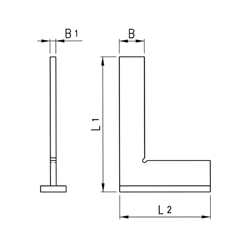 曲尺 DIN 875/1 - 2