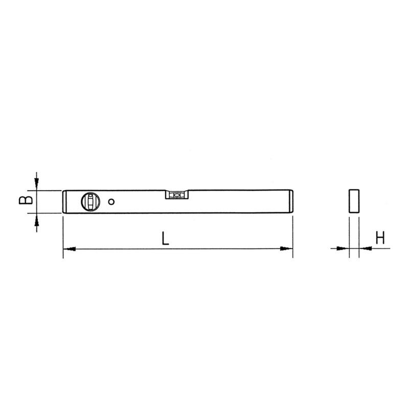 磁性水平仪 - 磁性轻金属水平尺-L40CM
