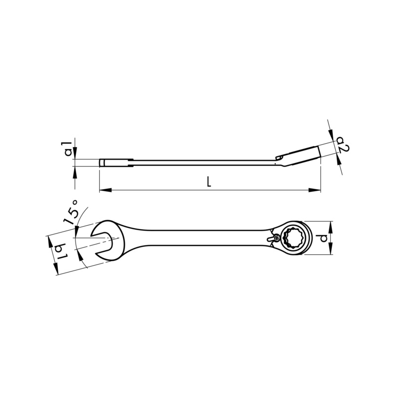 Ratchet combination wrench - 2