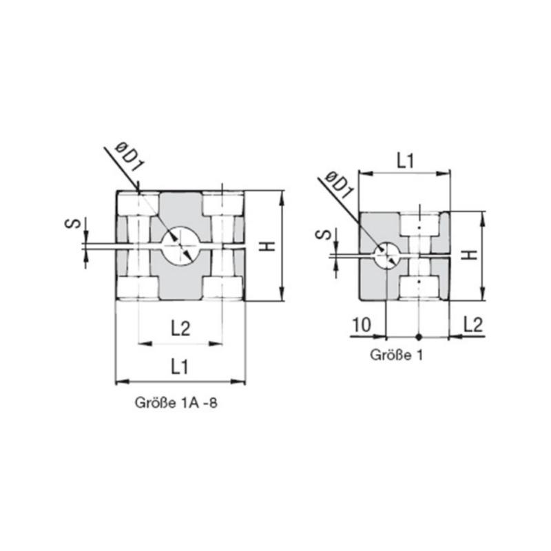 Ducting clamp, premium Part 1 – Light series - 2