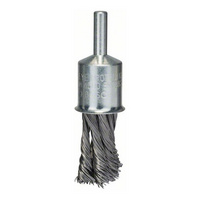 BOSCH Pinselbürste, Stahl, gezopfter Draht, 0,35 mm, 19 mm, Nr.2608622116