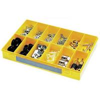 Sortimentskasten mit Verschluss Modell 12 Unterteil gelb