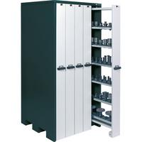 APFEL Werkzeugschrank HxBxT 2140x1040x1050 mm m. 30 Werkzeughaltern RAL7016/9002