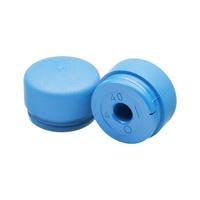 Embouts ORION, diamètre 30mm, polyuréthane bleu
