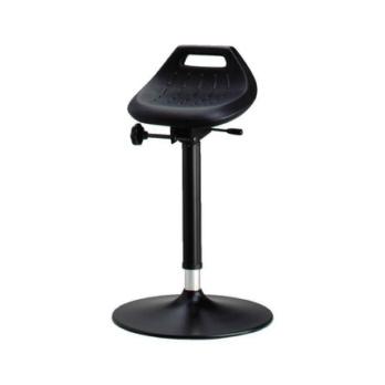 BIMOS Industrie-Stehhilfe Integralschaum schwarz Sitzhöhenverstellung 650-850 mm