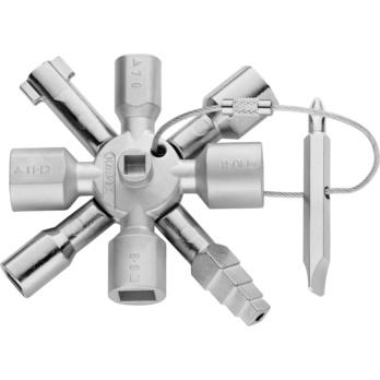 KNIPEX Universalschlüssel TwinKey für gängige Schränke und Absperrsysteme 92 mm