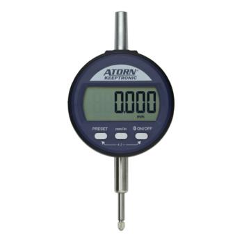 ATORN Messuhr mit KEEPTRONIC 12,5 mm 0,01 mm ZW mit Datenausgang multiCOM
