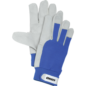 ORION assembly glove, size 9 DIN EN 388 cat. II leather glove, fabric backs -