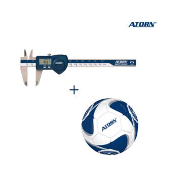 Elektronischer Taschen-Messschieber + ATORN Fußball
