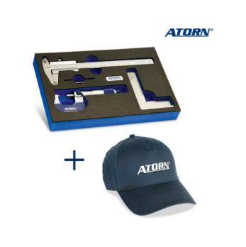 ATORN measuring set in hard foam insert + baseball cap -