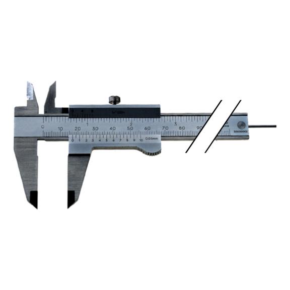 Pieds à coulisse d'atelier ATORN INOX 150mm à vis de blocage -