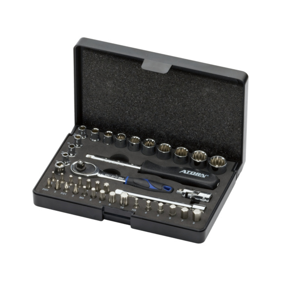 ATORN Steckschlüsselsatz 1/4   40-teilig Universalprofil ATORN Nr. 50500001