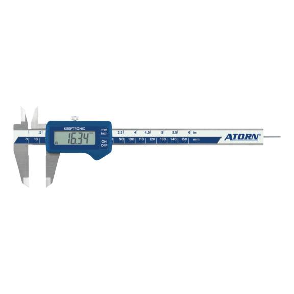 ATORN Messschieber IP40 elektronisch 150 mm Tiefenmaß flach
