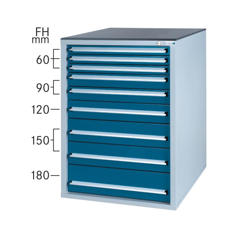 schubladenschrank system 800 s mit 9 soft close schubladen. Black Bedroom Furniture Sets. Home Design Ideas