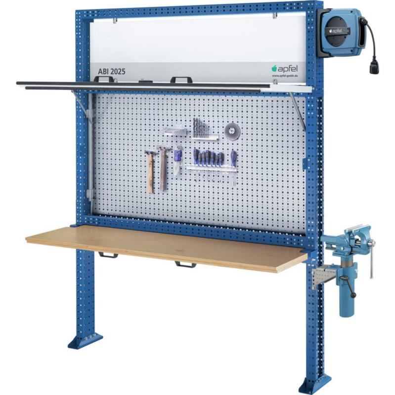 APFEL Arbeitsinsel 2025 Set K BxHxT 1940x2500x140 mm Rahmen RAL 5010 ...