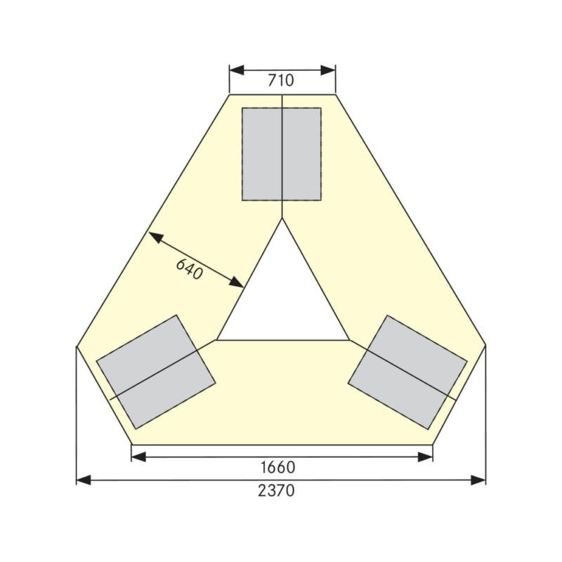 Anke Gruppenwerkbank 302 Vg Bxlängexh 2370x2052x850 Mm Ral 5010