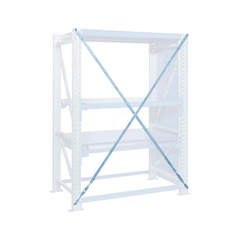 Heavy Duty Pull Out Shelf Diag Cross Frame Height X Field Length