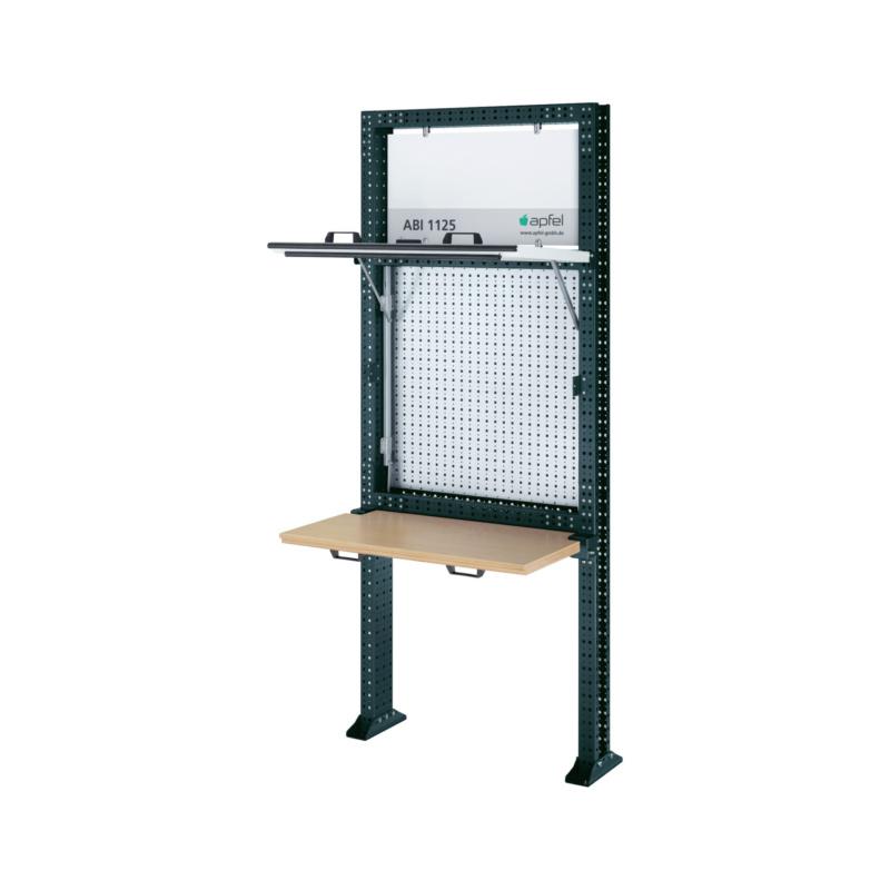 APFEL Arbeitsinsel 1125 Set K BxHxT 1040x2500x140 mm Rahmen RAL 7016 ...