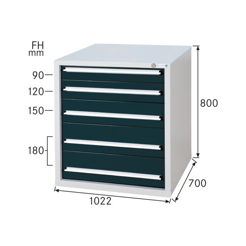 Schubladenschrank System 700 S mit 5 Schubladen | HAHN+KOLB