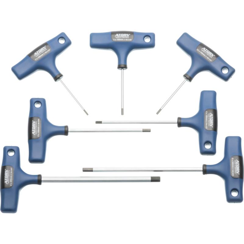 ATORN Sechskantschraubendreher-Satz 7-teilig 2-8 mm Quergriff verchromt - Allgemeine Werkzeuge