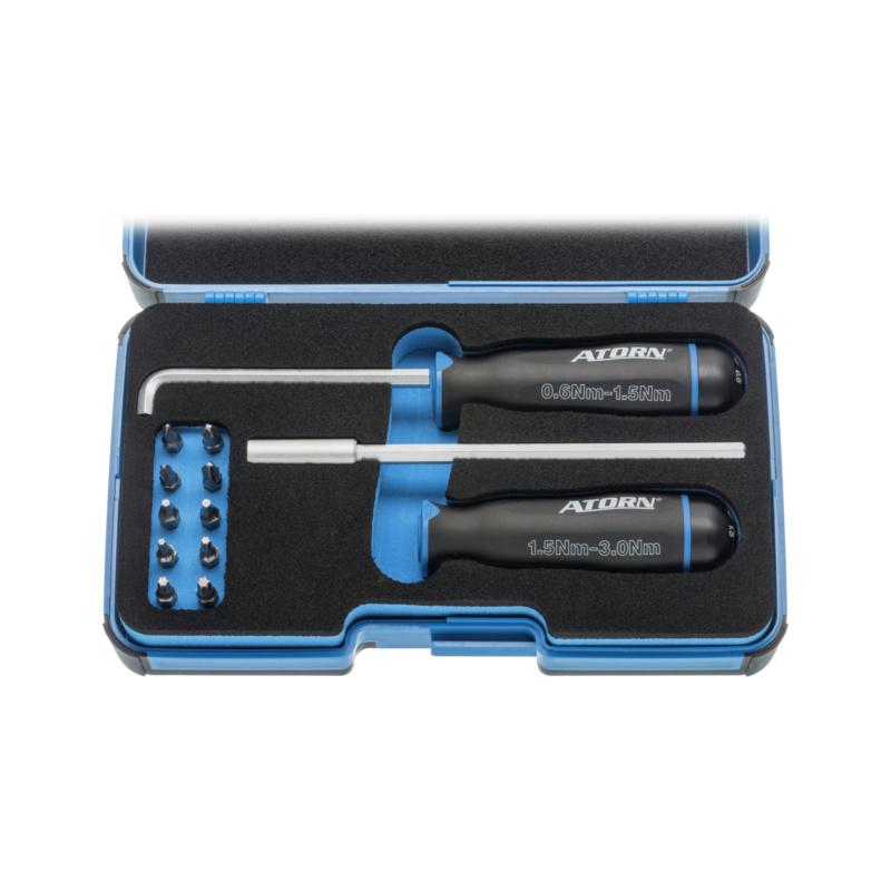 ATORN torque screwdriver set, 0.6–1.5Nm and 1.5–3.0Nm - tork tornavida seti
