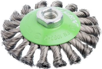 ATORN Kegelbürste Durchmesser 100 mm, M14 Gezopfter V2A Draht 0,5 mm ...