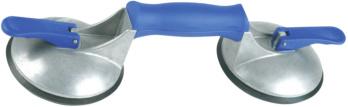 Hand-Saugheber mit 2 Saugköpfen aus Alu - Saugheber Modell 602.4BL 60 kg Traglast