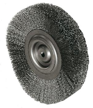 ATORN Rundbürste Durchmesser 100 mm, Bohr.10 mm Gewellter Stahldraht ...