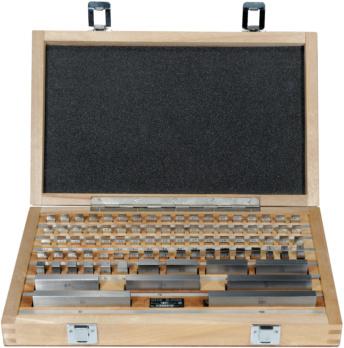 ORION mérőhasábok, acél, 103 db, tűrésosztály 2, doboz, tesztprotokoll - Párhuzamos, acél mérőhasáb készlet