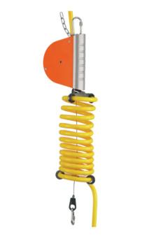 Federzug mit Druckluft-Spiralschlauch, Tragfähigkeit 2,0-14,0 kg - AUTOSTAT Federzug 7221 0801/3 mit Spiralschlauch Durchmesser 9x13 mm
