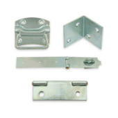 Angle brackets, hinges and cabinet fittings