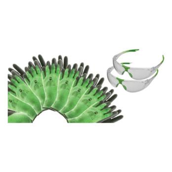 Angebote Arbeitsschutz - Package Thermo Grip + Racer 48x RECA Thermo Grip Gr.10, 2x Bügelschutzbrille Racer klar