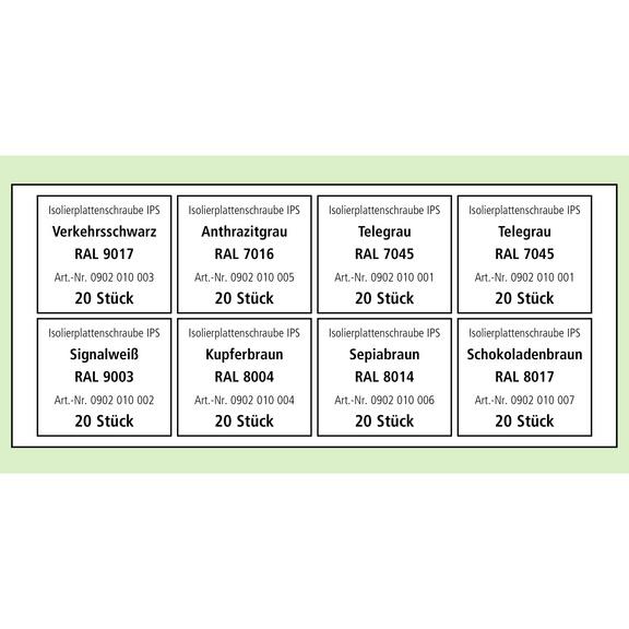 VISO Sortiment Isolierplattenschrauben IPS - VISO IPS Isolierplattenschrauben Sortiment farblich sortiert, TX 25
